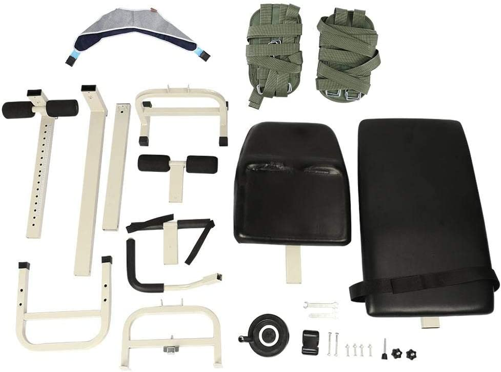 Appareil d/étirement du corps Colonne vert/ébrale cervicale Traction lombaire Table de massage Th/érapie Outil de massage Utilisation /à domicile pour la physioth/érapie Acide /épaule Mains et pieds