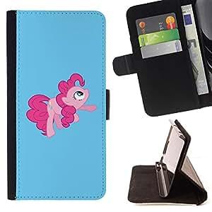 "Planetar? Modelo colorido cuero carpeta tir¨®n caso cubierta piel Holster Funda protecci¨®n Para Sony Xperia Z5 (5.2 Inch) / Xperia Z5 Dual (Not for Z5 Premium 5.5 Inch) ( Tail Pink Pony Hore Fairytale childresn"" )"