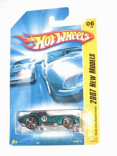 (2007 New Models #6 Shelby Cobra Daytona Coupe Aqua #2007-6 Collectible Collector Car 2007 Hot Wheels)