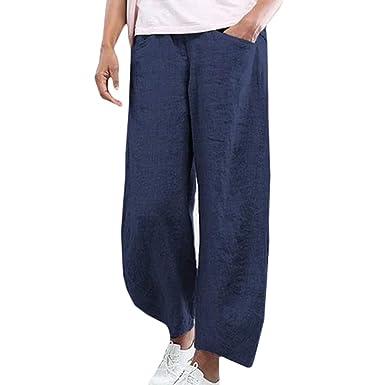 Hombres Elegante Pantalones de Yoga Cintura EláStica Vintage ...