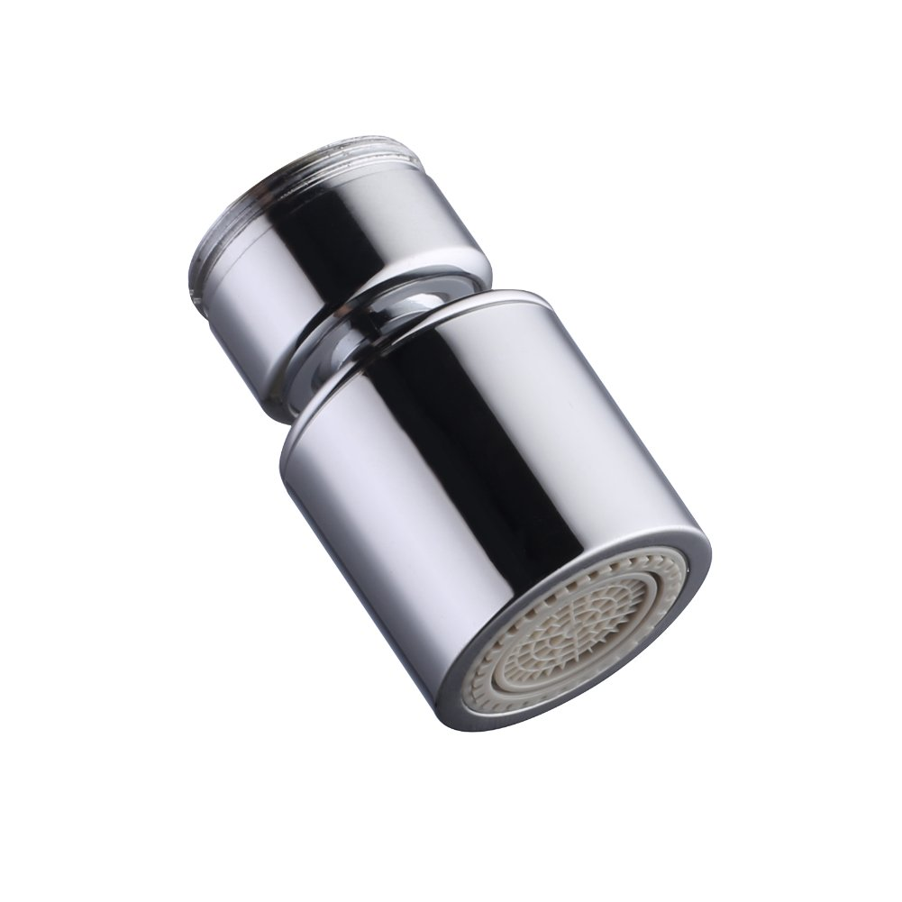 Dual-function Faucet Aerator with 360-Degree Swivel, 15/16 Inch - 27UNS Male Thread, Chrome