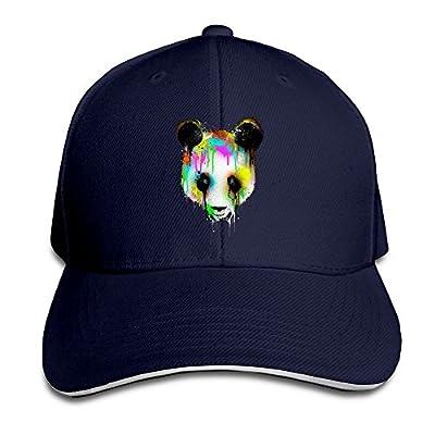 Colorful Crying Panda Head Stylish Baseball Fitted Cap