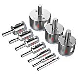 Diamond Drill Bits,Kusonkey [10-Pack] Hole Saw Core Bits Hollow Extractor Remover Set Tools for Granite/Ceramic/ Porcelain/Tiles/Glass/Marble
