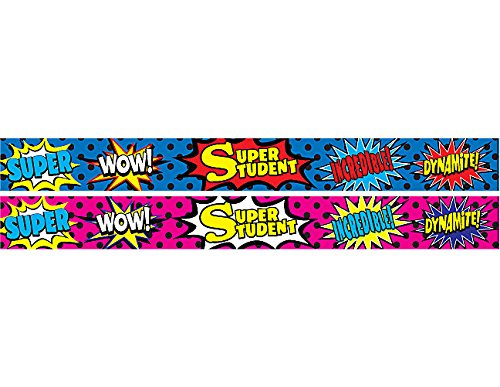Teacher Created Resources Superhero Super Student Slap Bracelets (20664) ()