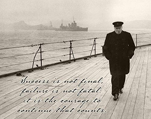 Success is Not Final - Winston Churchill - 11x14 Unframed Art Print - Great Gift for World War II History ()