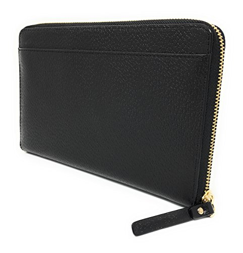 Kate Spade Grand Street Leather Zip Around Travel Wallet & Clutch (Black) ()