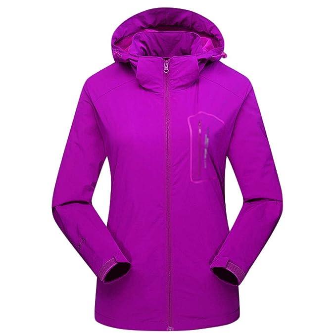 JINGRONG Mountain Jacket Ladies Engrosamiento De La Ropa Exterior Abrigos De Poliéster A Prueba De Viento Garb con Capucha para Salir Camping Caminando: ...