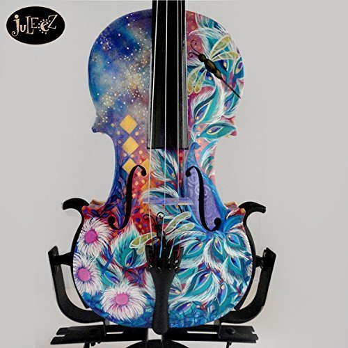 mendini-4-4-solid-wood-violin-with-case-colorful-painted-violin-by-juleez
