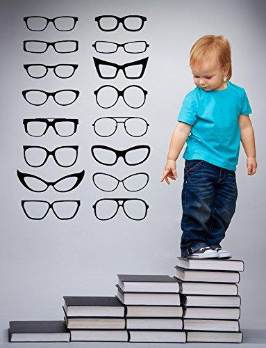Eye Glasses Frames Vinyl Wall Decal Sticker Home Optometrist Office - Eyeglass Frames By Mail