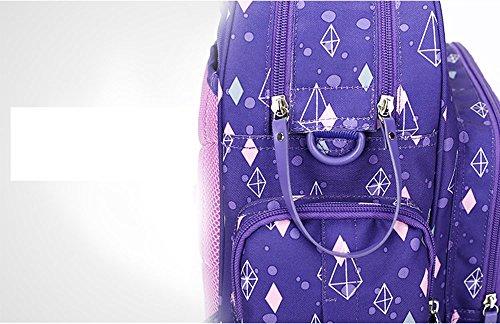 Mummy bolsa multifuncional de gran capacidad multi-compartimento impermeable impermeable pulsera bolsa de bebé bolsa ( Color : Khaki ) Luz Violeta