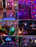 [2-Pack] Sound Activated Party Lights with Remote