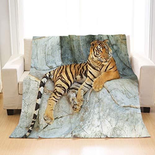BEIVIVI Custom Luxury All Season Blanket Tiger Resting Throw Flannel Blanket for Baby, Children, Adults