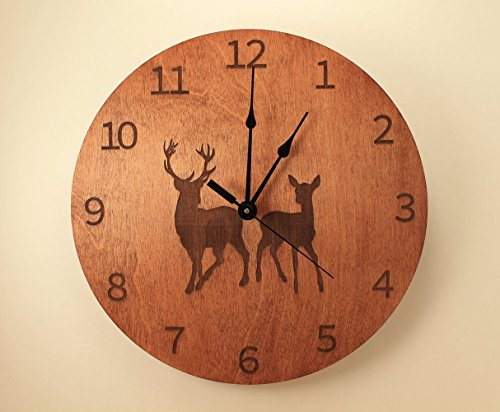 Buck and Doe laser cut clock