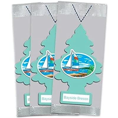 Little Trees Car Air Freshener 3-Pack (Bayside Breeze): Automotive
