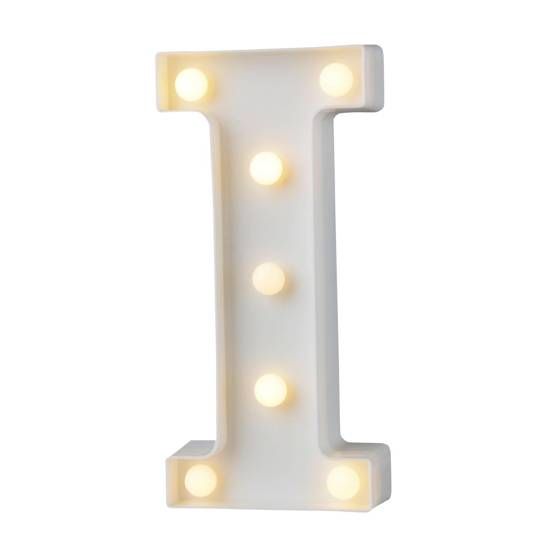 A-Z Alphabet Light White LED L/ámparas de noche Plastic Letter Standing Hanging Lighting para Wedding Party Dormitorio Decoraci/ón de Navidad by Moobom H