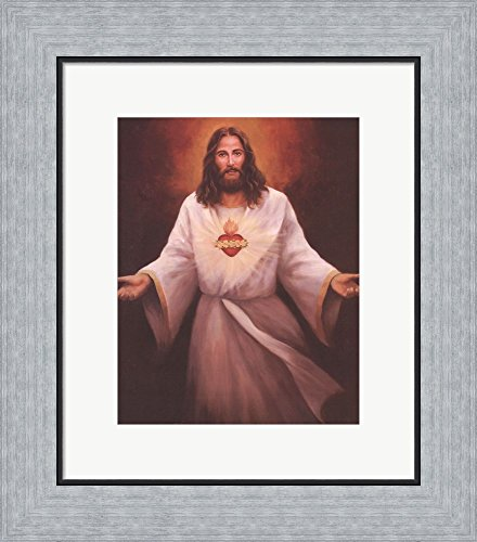 Great Art Now Jesus' Sacred Heart by T.C. Chiu Framed for sale  Delivered anywhere in USA