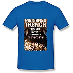 SY Marianas Trench The Hey You Guys Tour Cotton T Shirt For Men RoyalBlue M