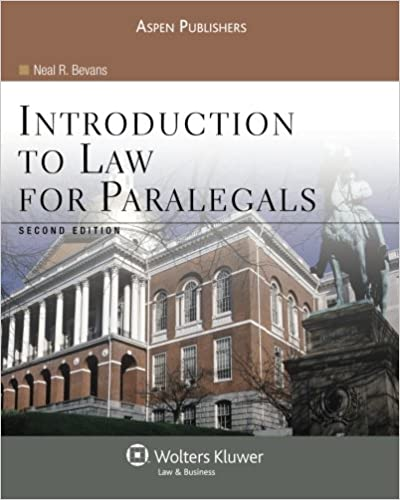 Introduction to law for paralegals second edition neal r bevans introduction to law for paralegals second edition neal r bevans 9780735569201 amazon books fandeluxe Image collections