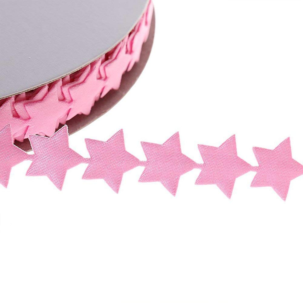 Potelin Lace Trim Star Pattern Ribbon Applique Applique DIY Craft Ornaments Festival Decoration Gift Wrapping 20 Yards 1.3 cm