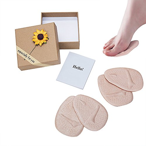 Oxyland Ball of Foot Support Cushions,2 Pairs Soft Metatarsal Gel Pads Forefoot Pain Relief Shoe Insoles for Women High Heels (Skin- 2 Pairs)