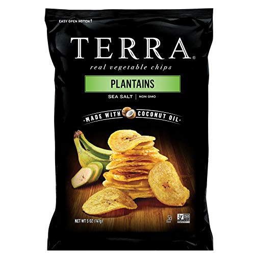 TERRA Plantains Chips with Sea Salt, 5 oz. Bag (Pack of 12)