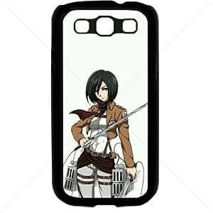 Shingeki no Kyojin Attack on Titan Manga Anime Comic Mikasa Ackerman Samsung Galaxy S3 SIII I9300 TPU Soft Black or White case (Black)