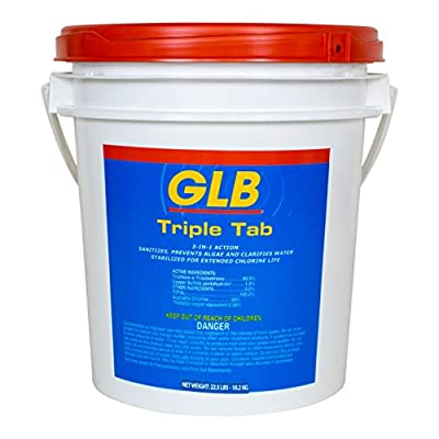 Advtis GL71446 22.5 lbs Triple Tab Chlorinating Tablets from GLB