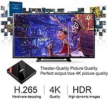 Android 7.1 EstgoSZ 4K TV BOX con Amlogic S912 Octa Core RAM 3GB ROM 64GB Smart TV Box con Control Remoto con Dual WiFi 2.4 GHz/5.0 GHz 1000M LAN ...