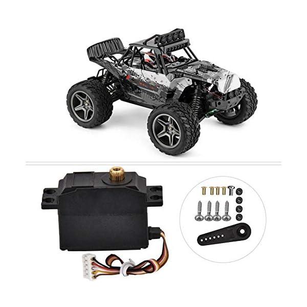 Drfeify Servo in Metallo per Auto RC,Servo in Metallo con Accessori Installazione per Wltoys 12428 12423 RC Auto 3 spesavip