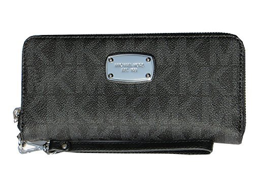Michael Kors Jet Set Item Travel Continental Signature MK PVC Wallet Black by Michael Kors (Image #1)