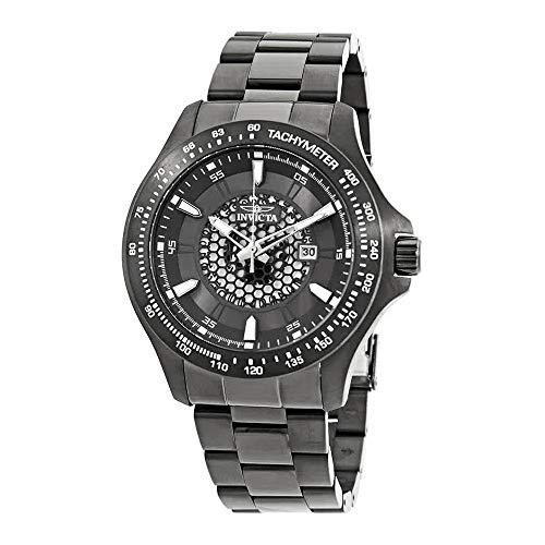 Invicta 25339 Men's Speedway Grey Dial Gunmetal IP Steel Bracelet Quartz Watch