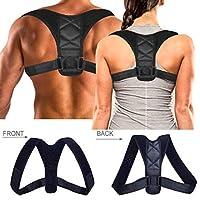 Ecobasik Corrector de Postura -Alinea la Columna Vertebral Alivia Dolor de Espalda Cuello y Hombros Cómodo Soporte para la Parte Superior de la Espalda para Hombre y Mujer (Unitalla)