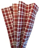 Printed Tissue Paper for Gift Wrapping with Design (Red Plaid), 24 Large Sheets (20x30)