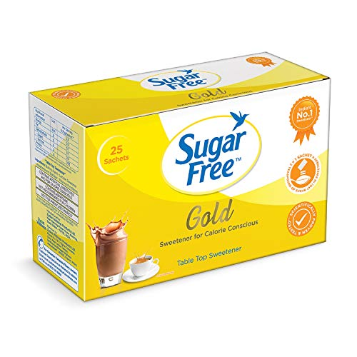 Sugarfree Gold Low Calorie Sweetner - 25 Sachet (B07H3HL1N8) Amazon Price History, Amazon Price Tracker