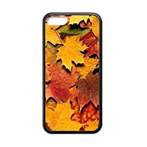Autumn Maple Leaf Yellow Fashion PC Case Cover for Iphone 5C
