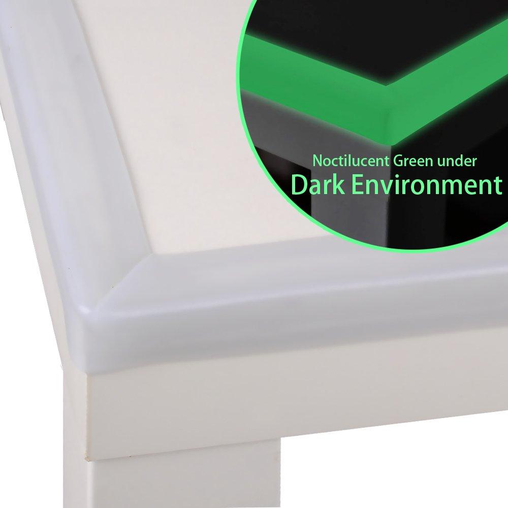 Cunina® Protectores para Bordes y Esquinas Transparente Nocturno Verde, Protectores de Mesa, Muebles, Parachoque Antigolpes Seguridad para Niños de 2 Metros