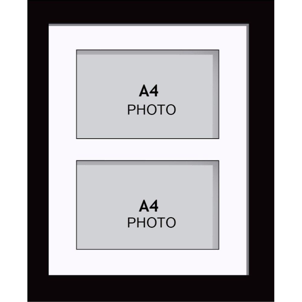 Amazon.de: Große Multi Bilderrahmen Blende Rahmen, Größe A4 mit 2 ...