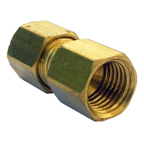 LASCO 17-6751 1/4-Inch Female Flare by 1/4-Inch Compression Brass Adapter