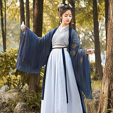 LSJIU Estilo Chino Retro Hanfu Hanfu Dress Women Traditional ...