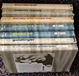 James Bond Set of 7: The Man with the Golden Gun, Doctor No, Goldfinger, You Only Live Twice, The Spy Who Loved Me, Casino Royale, Thunderball