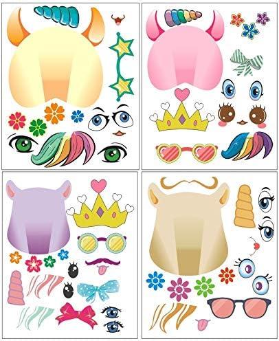 Amazon.com: 24 pegatinas de unicornio con diseño de ...