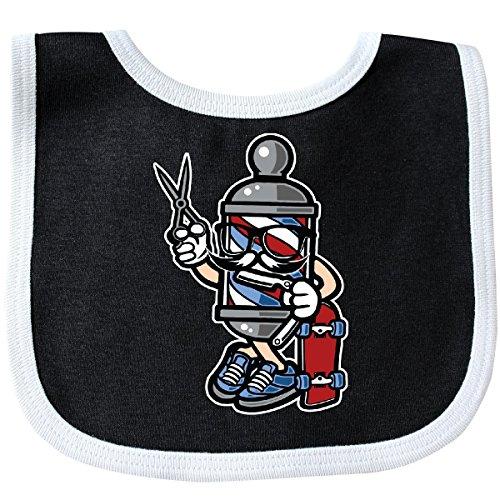 Inktastic - Barber Skater Baby Bib Black/White 2c2d9