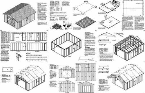 16' X 20' Car Garage/workshop Project Plans -Design #51620