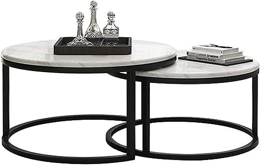 mesas de Centro Modernas Mesa de anidación Moderna de Hierro ...