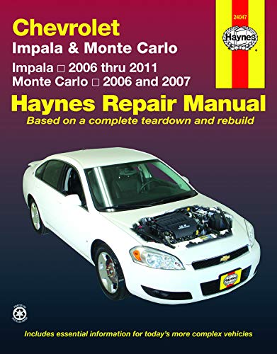 Chevrolet Impala (06-11) & Monte Carlo (06-07) Haynes Repair Manual