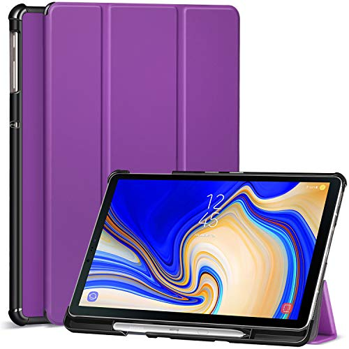 Ztotop Case for Samsung Galaxy Tab S4 10.5 Inch 2018 with S Pen Holder - Lightweight Slim Trifold Stand Cover with Auto Sleep/Wake for Samsung Tab S4 10.5 Inch Tablet SM-T830 /T835/T837-Purple