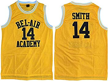 c485abefe0e3 CoreSpot The Fresh Prince of Bel air Jersey academy Golden sewn  14 will  smith Jersey