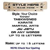RenKata 12 Level Taekwondo Belt Display