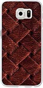 S6 Case Dseason,Samsung Galaxy S6 Hard Case **NEW** High Quality Best Price Personalized Brown woven striae tiled background