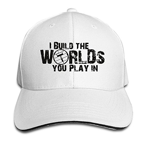 MaNeg I Build The Worlds You Play In Sandwich Peaked Hat & Cap (Custom Costumes In Edmonton)
